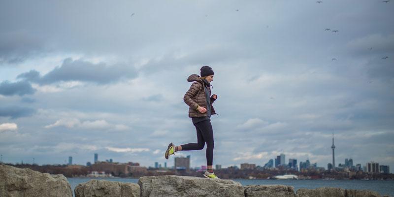running on rocks