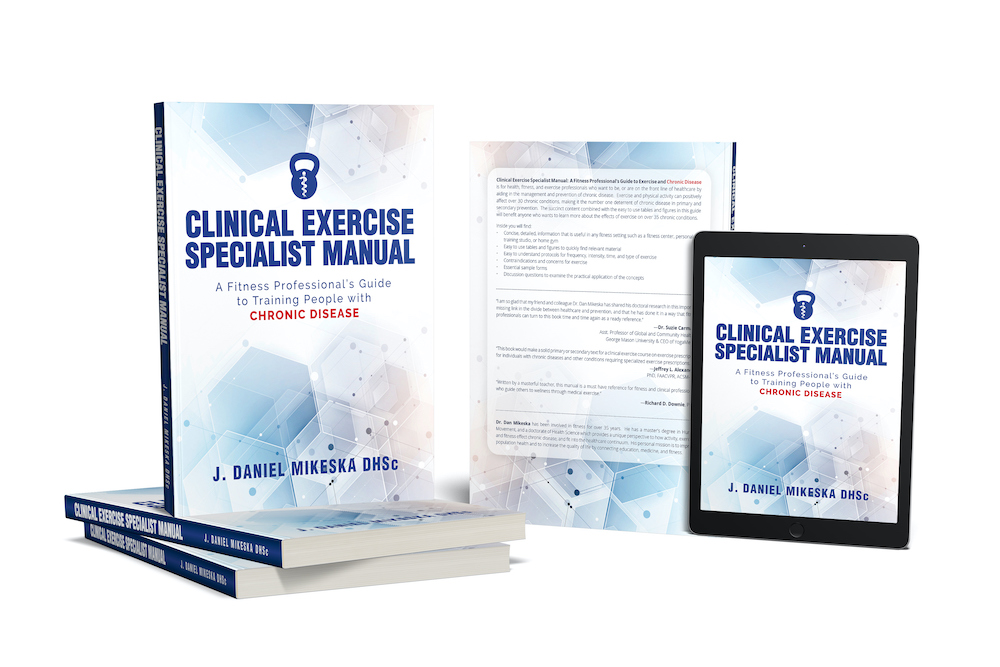 book cover for Clinical Exercise Specialist Manual: A Fitness Professional's Guide to Exercise and Chronic Disease